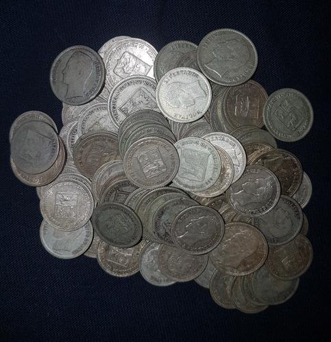 monedas de plata 0.25 centimos (medios) precio 2 unidades