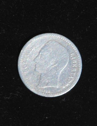 monedas de plata 0.50 bs. y 0.25 bs.