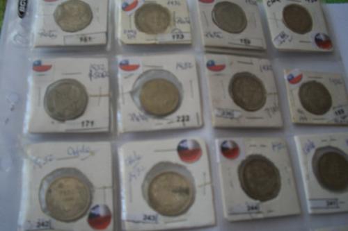 monedas de plata chilena  pesos 1927