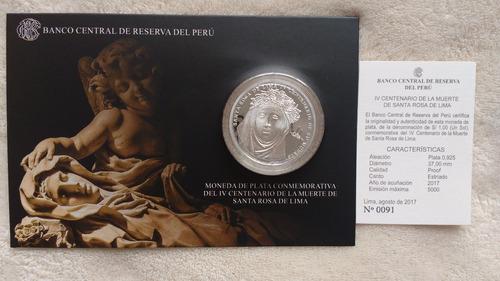 monedas de santa rosa de lima plata