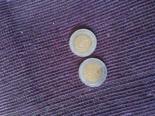 monedas del  nuevo peso  del año 1993 y 1995