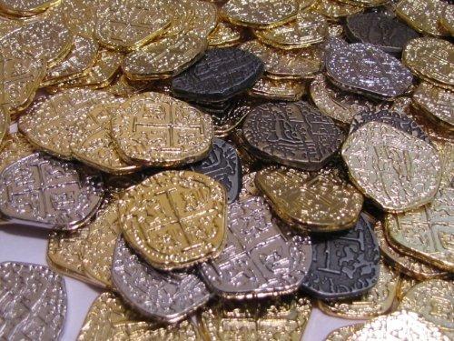 monedas del tesoro de piratas 30 réplicas de doblones de oro