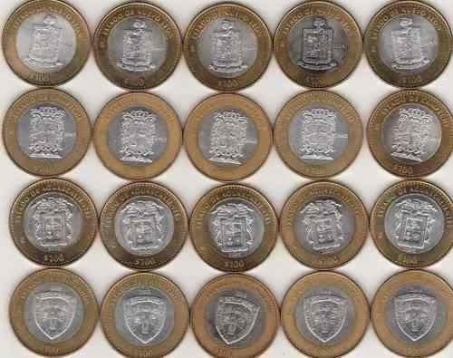monedas estados 100 pesos etapa 2 (paisajes.y monumentos !!