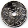 Moneda 5 Coronas 1998 Noruega - Europa Unc Oferta