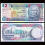 Billete De Barbados 2 Dollars Banknote Año 2007