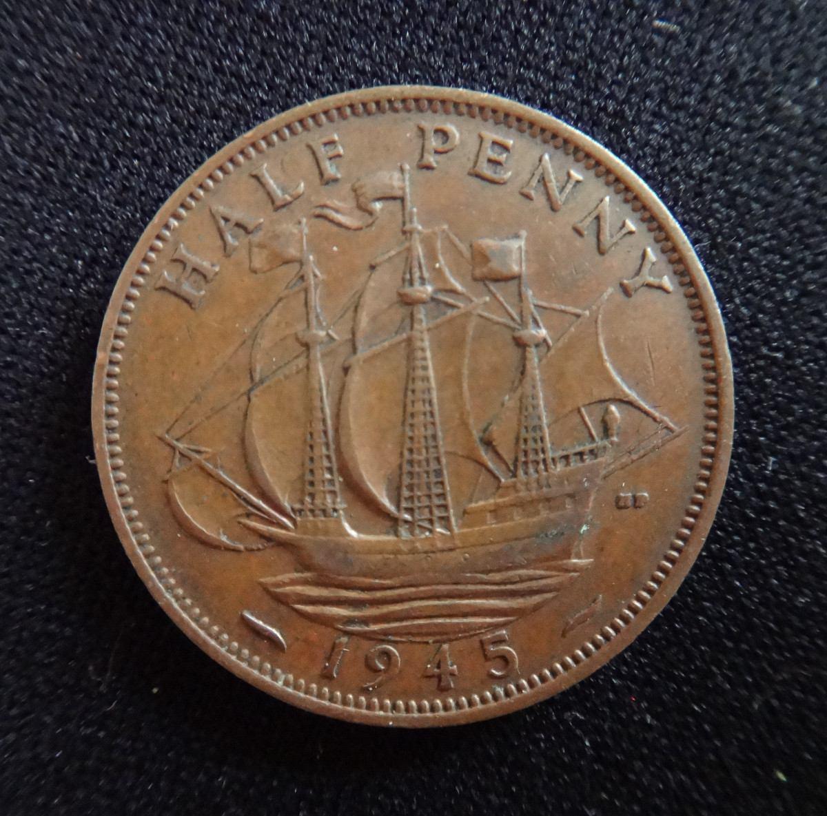 Monedas Half Penny, One Penny - Gran Bretaña (1903-1945) - $ 248,83