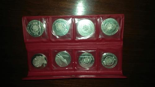 monedas medallas de plata del sesquicentenario de 1825.
