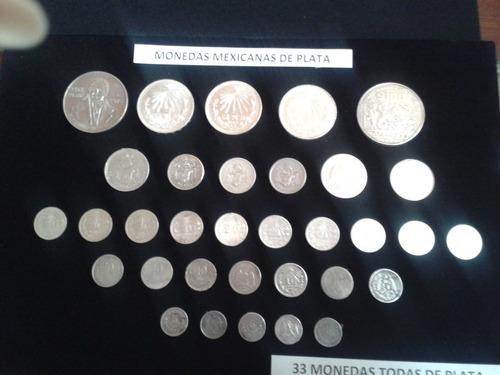 monedas mexicanas de plata