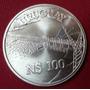 Uruguay Moneda N$100 Año 1981 Represa Salto Grande Unc Plata