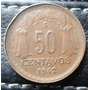 Moneda De Chile 50 Centavos 1942 Valor $ 1.800