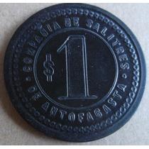 Ficha Salitrera Oficina Negra $ 1 Negra