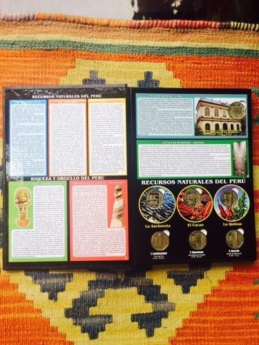 monedas peruanas de colección 2019 álbum - libro