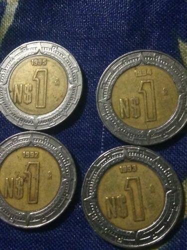 monedas pesos nuevos año 1992,1993,1994,1995