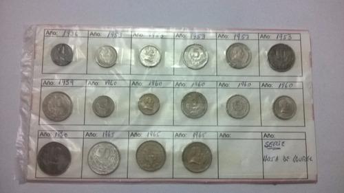 monedas uruguayas.serie hoja de laurel.del 36 al 65.lote 16m