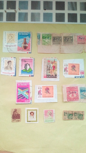 monedas y  billetes estampillas venezolanas- colecc*25 vdes*