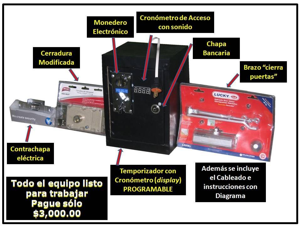 Puertas De Baño Publico:Monedero Acceso Electrónico Para Baños Públicos Tempo-puerta – $