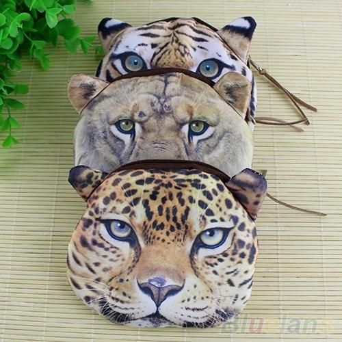 Monedero Billetera 3d Tigre Leopardo Leon Moda Coreana