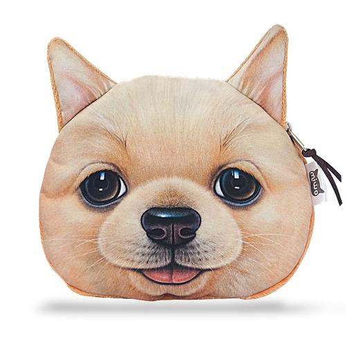 monedero bolsito perro marrón   original importado