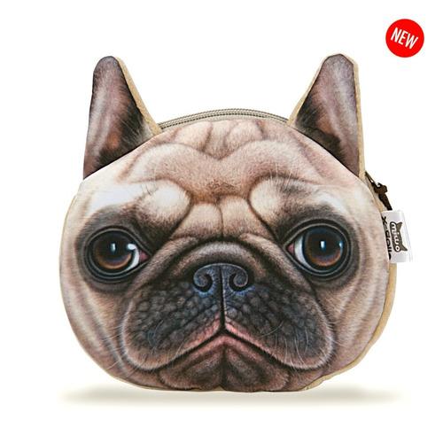 monedero  bolsito perro pug | bulldog | original importado
