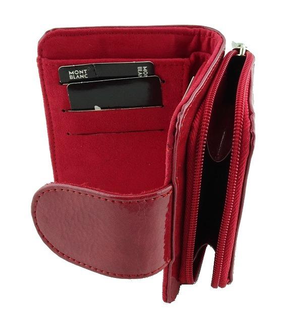47dbc8462 Monedero Cartera Piel De Importación Moda Dama Rojo Bonita 9 ...