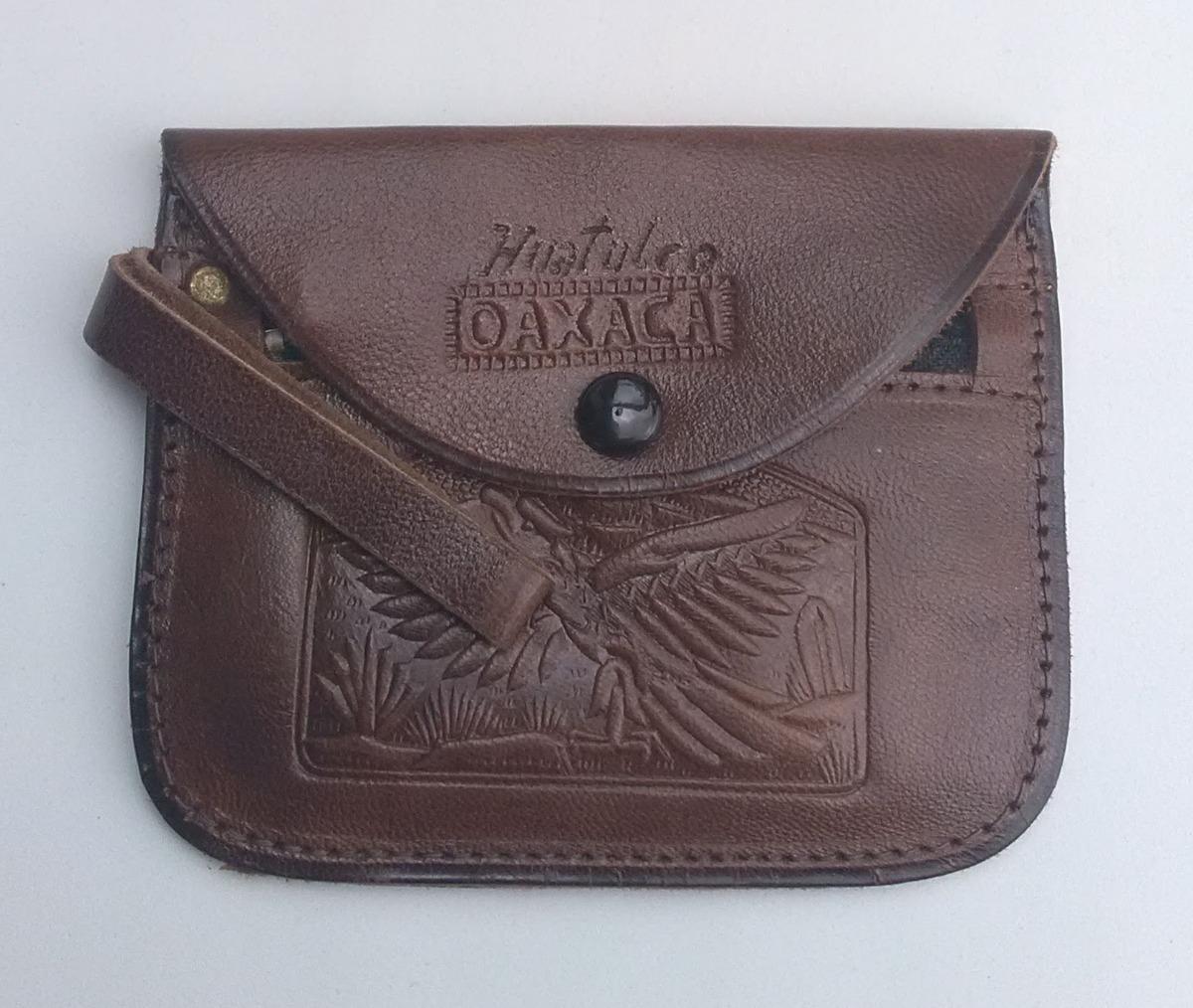 f01c28881 Monedero De Piel Huatulco Oaxaca Para Dama Vintage - $ 59.00 en ...
