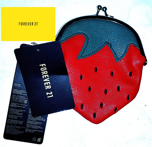 monedero forever 21 strawberry