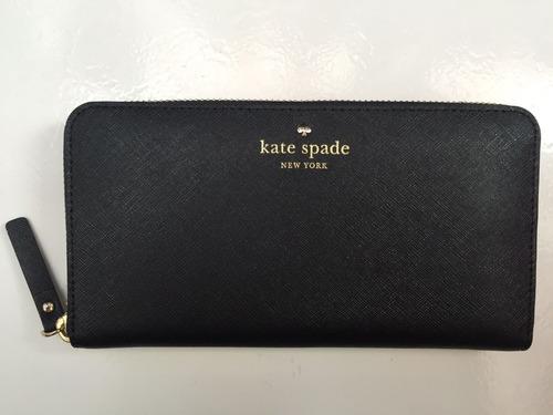bajo costo fina artesanía proporcionar un montón de Monedero Kate Spade Negro Nuevo Original