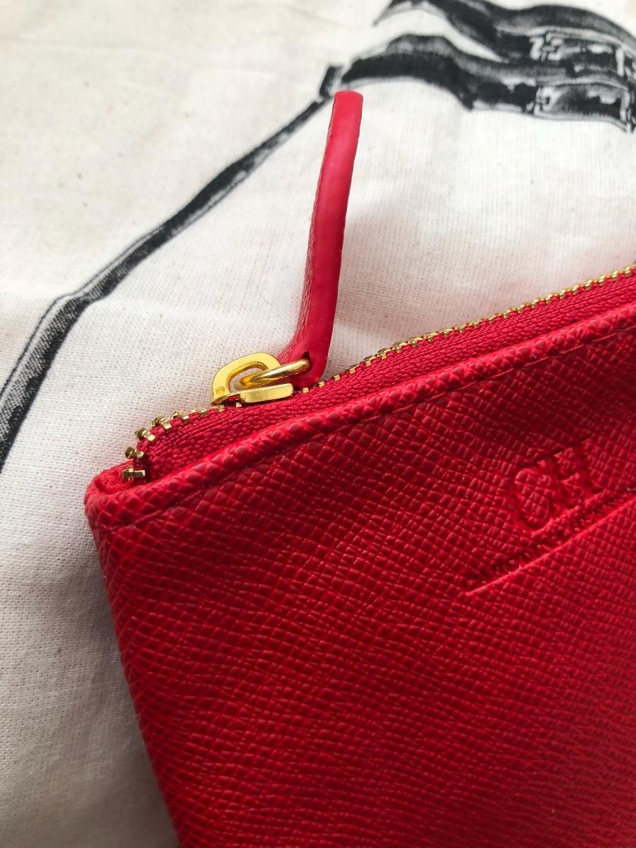081111425 Monedero Rojo Carolina Herrera Original - $ 650.00 en Mercado Libre