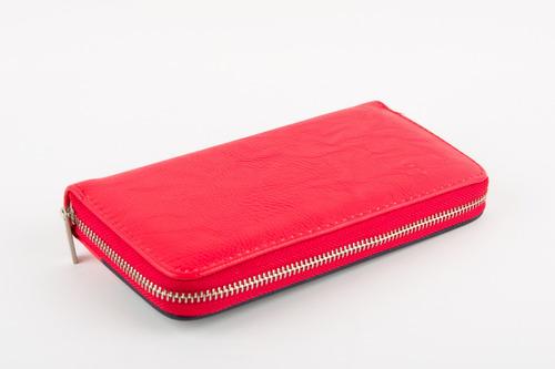 monedero/billetera dama akua avenue azul marino/rojo