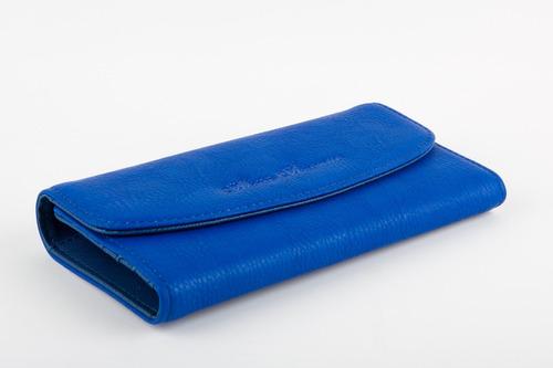 monedero/billetera dama akua avenue azul rey
