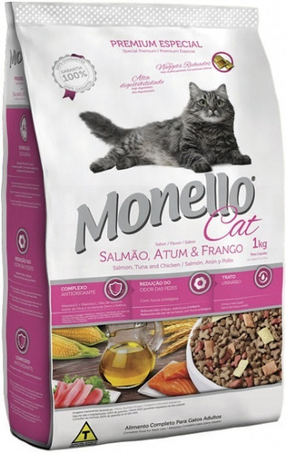 monello cat salmon atun y pollo 7 kg - kg a $17129