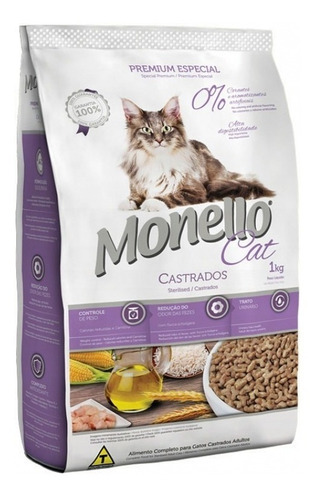 monello gatos castrados premium x 10 kg envio gratis