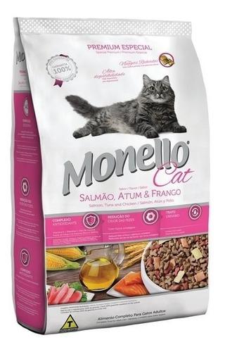 monello gatos premium x 15 kg salmón atún pollo envío gratis