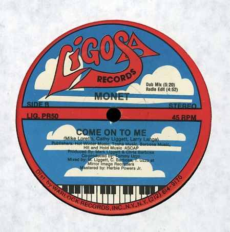 monet   12 single  come on to me  importado 1987