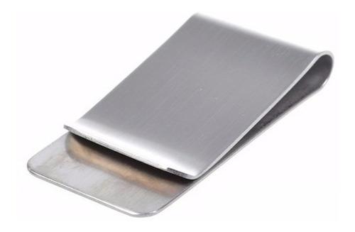money clip color plata p/tarjetas y billetes personalizado