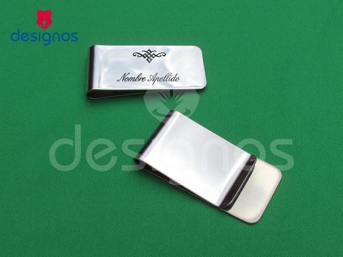 money clip de acero inoxidable diseño clásico personalizado