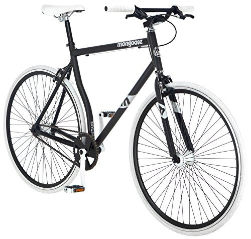 mongoose hombres r4044wma 700c detain fixie bike, mate negr