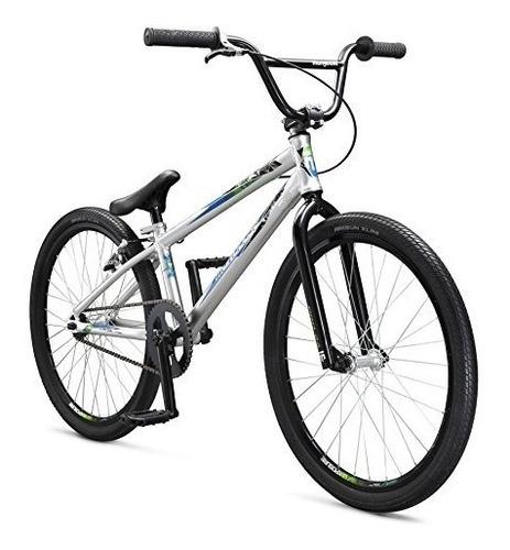 mongoose title 24 bmx race bike, 24-inch wheels, silver