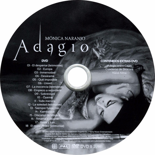 monica naranjo - adagio (cd+dvd)