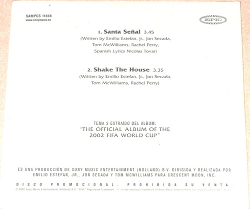 monica naranjo cd single shake the house ed. excl. españa