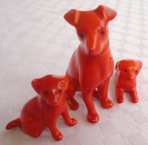 monijor62-conjunto lote de perritos de porcelana alemana