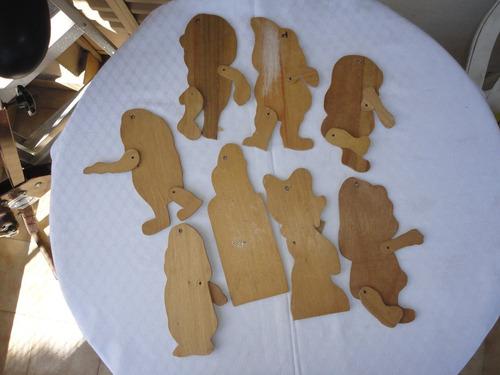 monijor62- muñecos blanca nieve y los 7 enanitos madera art.