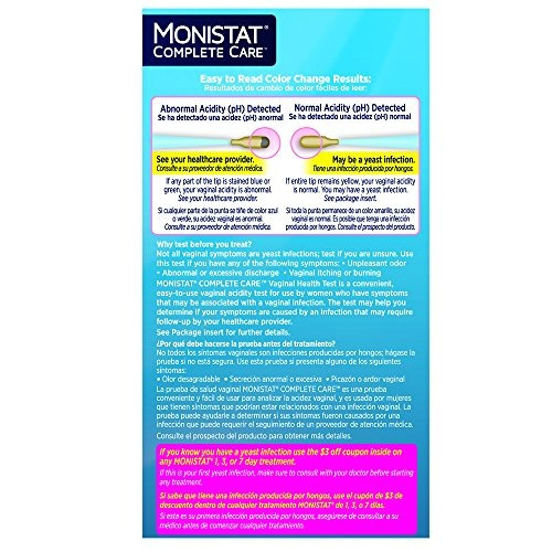 monistat care vaginal health test 2 hisopos de prueba inclui