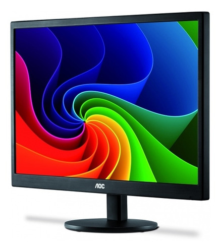 monitor 18,5 pol led aoc - 200 cd/m2 de brilho - e970swnl