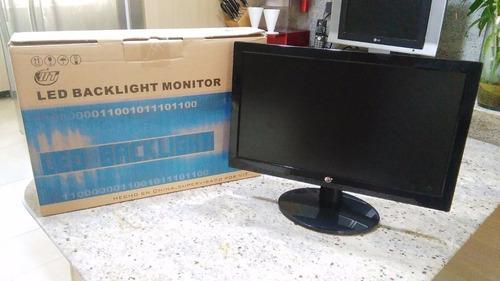 monitor 19.5  con cables impecable super oferta