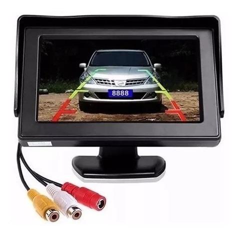 monitor 4.3  480x240p con cámara de auto listo para instalar