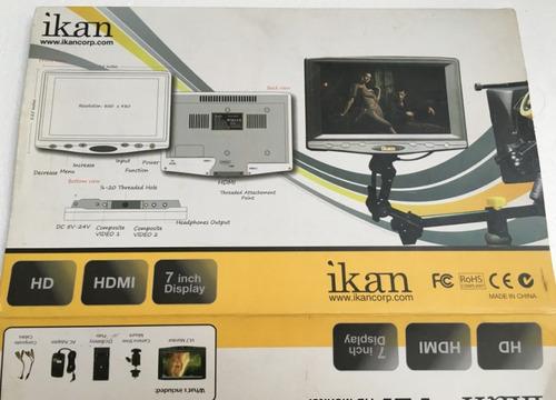 monitor 7   ikan hdmi hd excelente estado envio gratis meses
