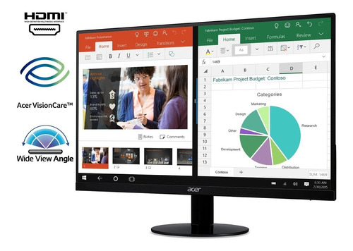 monitor acer 21.5'' full hd ips ultra- (hdmi and vga port)