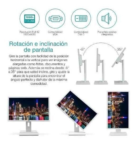 monitor acer 24' led fullhd panorámico a+ oferta loi