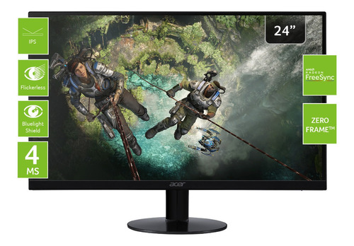 monitor acer  gamer  full hd  + ips 23'8  + freesync + hdmi